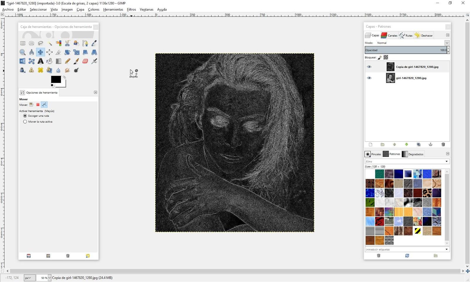 The Gimp  Tansforma una fotografa a dibujo a lpiz