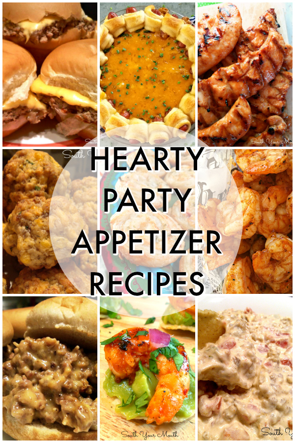 Filling appetizers, finger food recipes and heavy hors d'oeuvres perfect for entertaining - especially football parties, tailgating, the Super Bowl or other game day events!