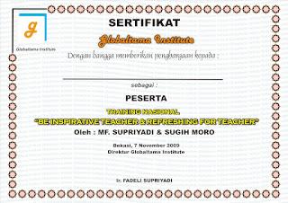 Cetak Piagam Sertifikat Penghargaan Percetakan Bekasi Printing