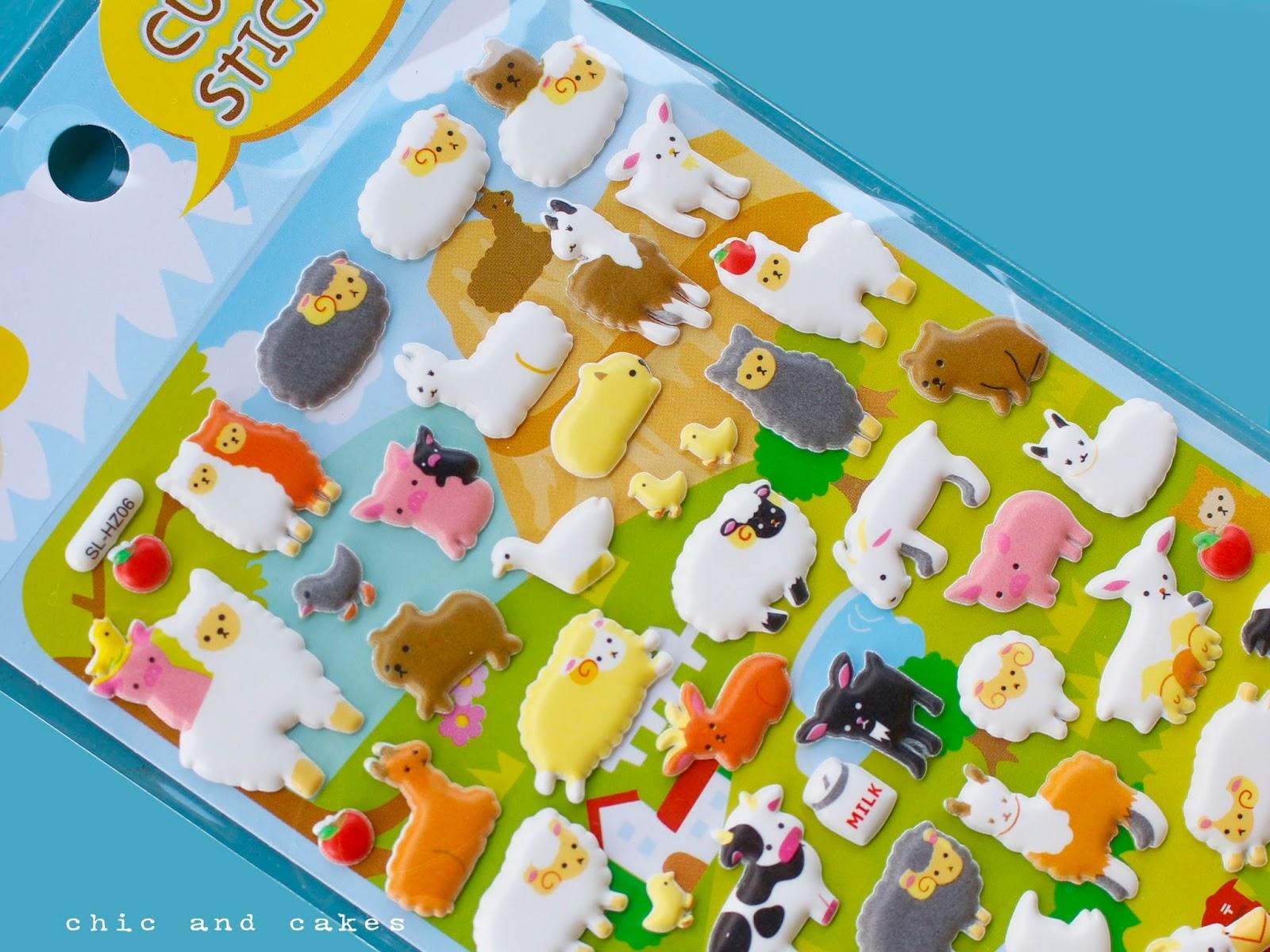 pegatinas de alpacas y obejas para niños