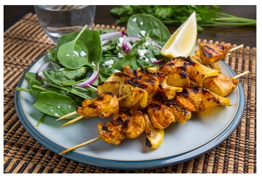 be healthy-page: Moroccan Grilled Chicken Kabobs