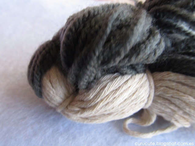Pájaro con lanas Cuerpo terminado