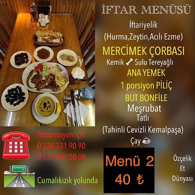 bursa yıldırım iftar yemeği bursa yıldırım iftar menüler 2019 bursa iftar menüsü kampanyaları