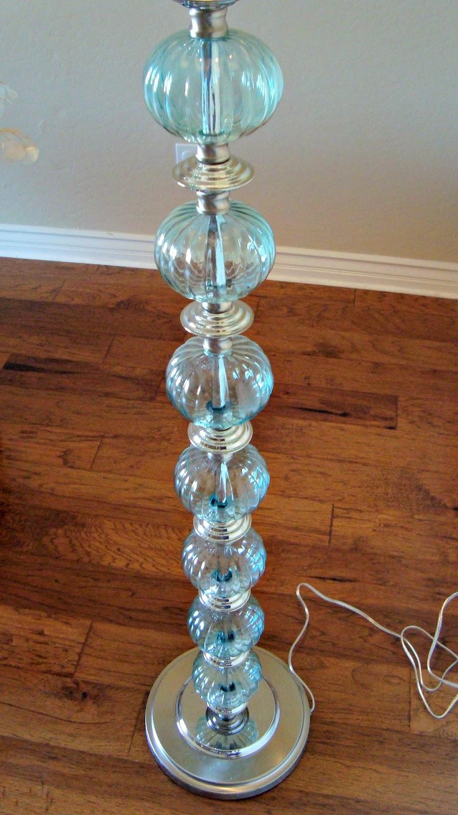 Christine's Favorite Things: Aqua Glass Floor Lamp