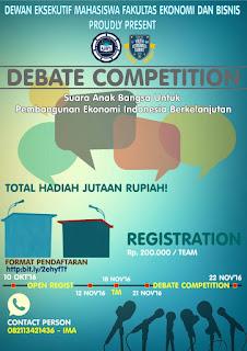 Lomba Debat Ekonomi UIN Syarif Hidayatullah Jakarta 2016