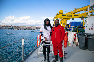 Stephanie Linus visits rescue ship 'Aquarius' in Italy as She advocates against Human Trafficking 8