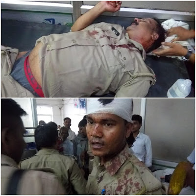 Clashes Between Police And Village Public Uttar Pradesh
