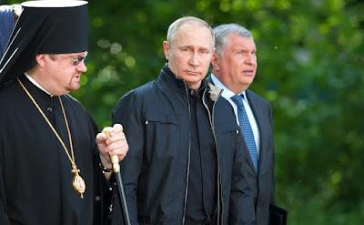 Vladimir Putin visited Konevsky Monastery.