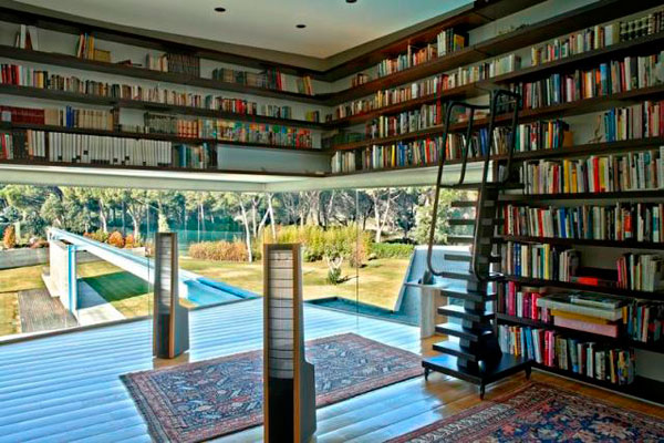 house furniture Home Library Design Ideas With a Jay