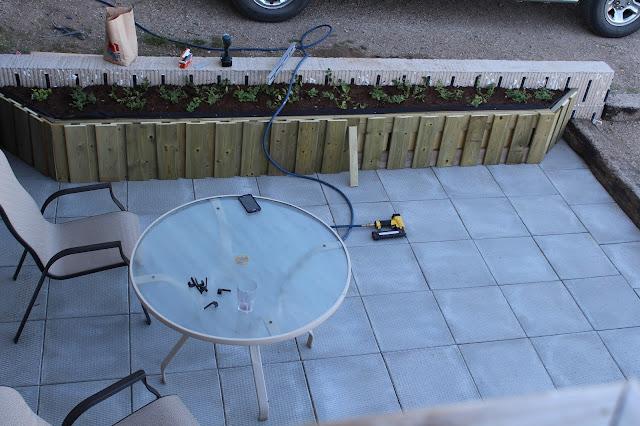 Patio, building DIY planter