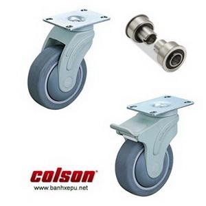 Bánh xe đẩy cao su STO lắp tấm chịu tải trọng (70~100kg)