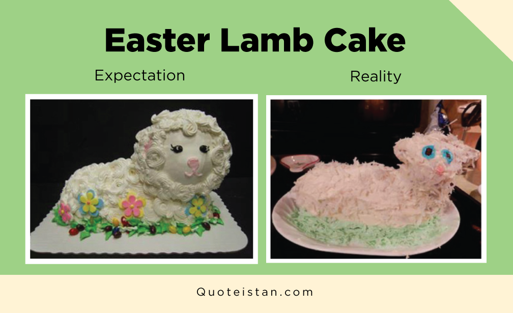 Expectation Vs Reality: Easter Lamb Cake
