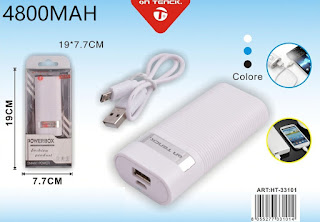 power bank 4800mah caricabatteria on tenck 33101