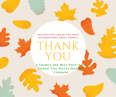Effective thank you note three things: