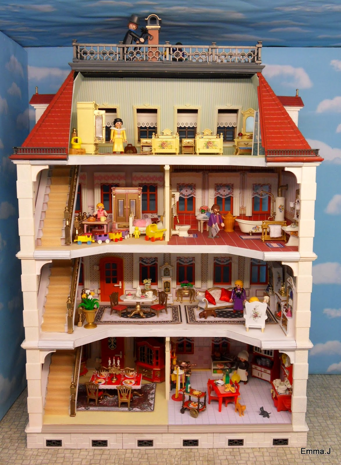Victorian 5301 Mansion With Extra Floor Emma J 39 S Playmobil