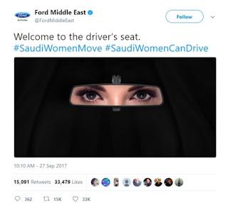 Como a Ford viralizou no Twitter com a #SaudiWomanCanDrive