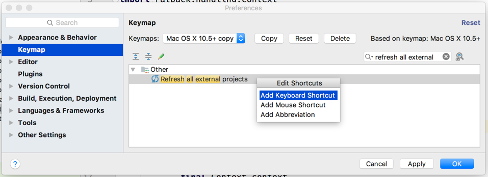 Gradle Goodness: Create Shortcut Key To Refresh Gradle Projects In