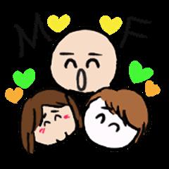 Macchan Teruchan and Hirame Family