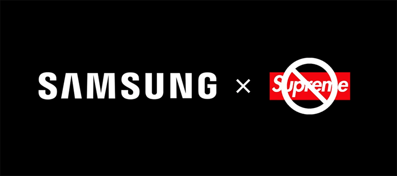 Samsung ends collaboration with Supreme Italia
