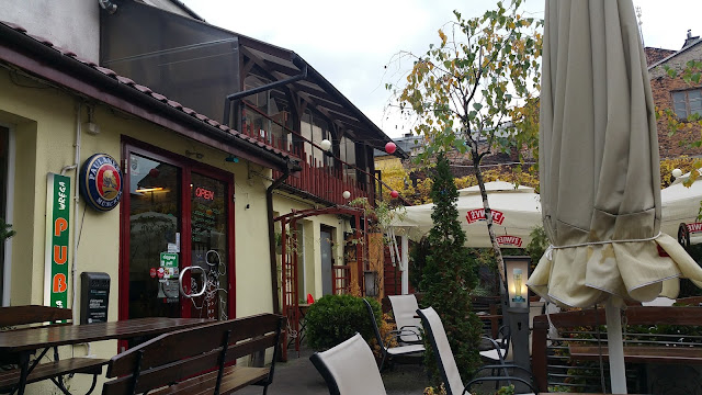 Restaurant courtyard in Kazimierz, Jewish Quarter in Kraków