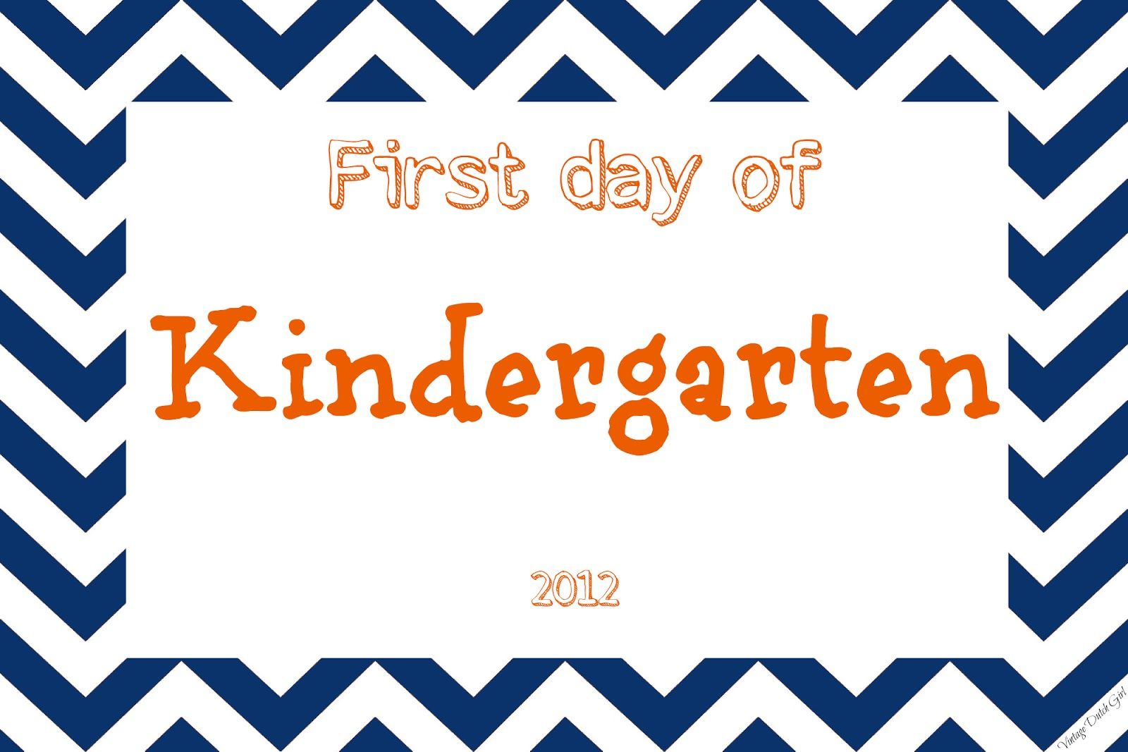 Vintage Dutch Girl First Day Of Kindergarten Printable Oh My