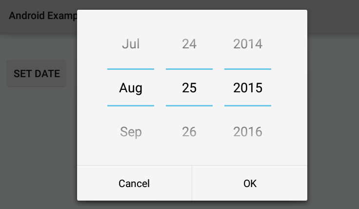 How to format DatePickerDialog selected date in Android