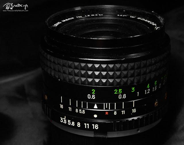 Minolta W.Rokkor SG 28mm f/3.5 MC + Pixco Minolta MD to Nikon Adapter (Infinity)