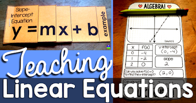 In this post, I want to share some of the linear equations activities I've made over the years, including their recent digital updates.