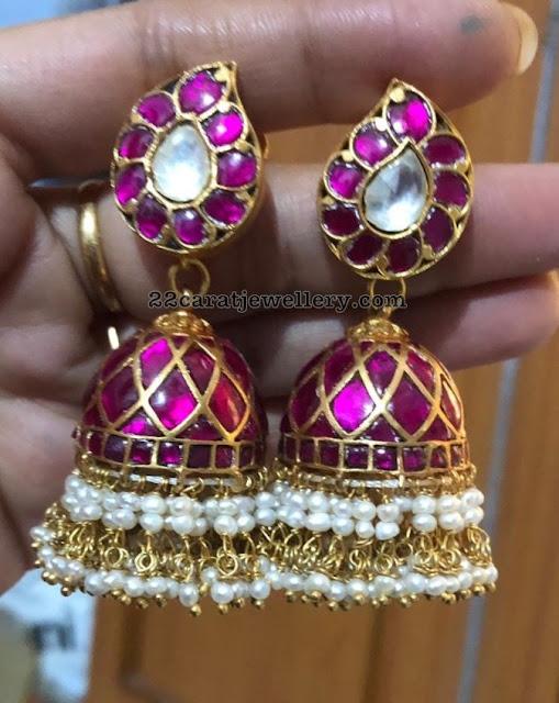 Silver Mango Necklace Jhumkas Bangles