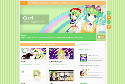 Gumi Vocaloid Blogger Template