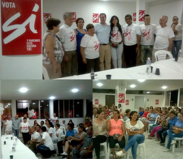 #RSY | En La Libertad-Cúcuta, dirigentes politicos y líderes sociales sellan el triunfo del Sí en el Plebiscito