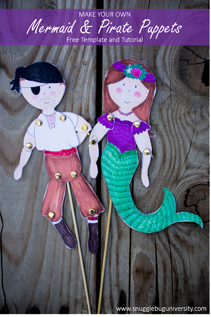 Mermaid and Pirate Puppets–Plus all the Details of Ellie's Mermaid Birthday Bash!