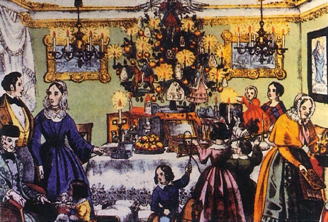 Weihnachten Um 1800