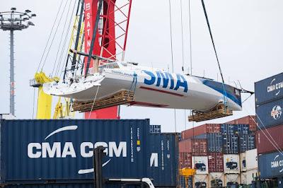SMA est arrivé au Havre après son abandon sur le Vendée Globe