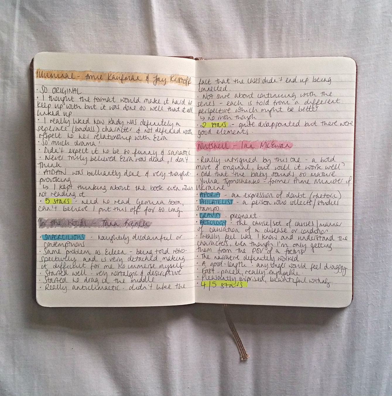 Watch How to Keep a Book Journal video