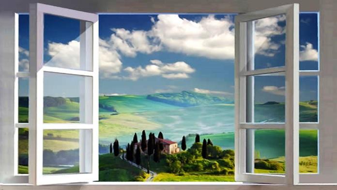 Finestra best vasca sotto la grande finestra doccia in cristallo lampadario catellani smith - La finestra album ...