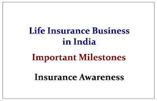 Important Milestones in the Life Insurance Business in India