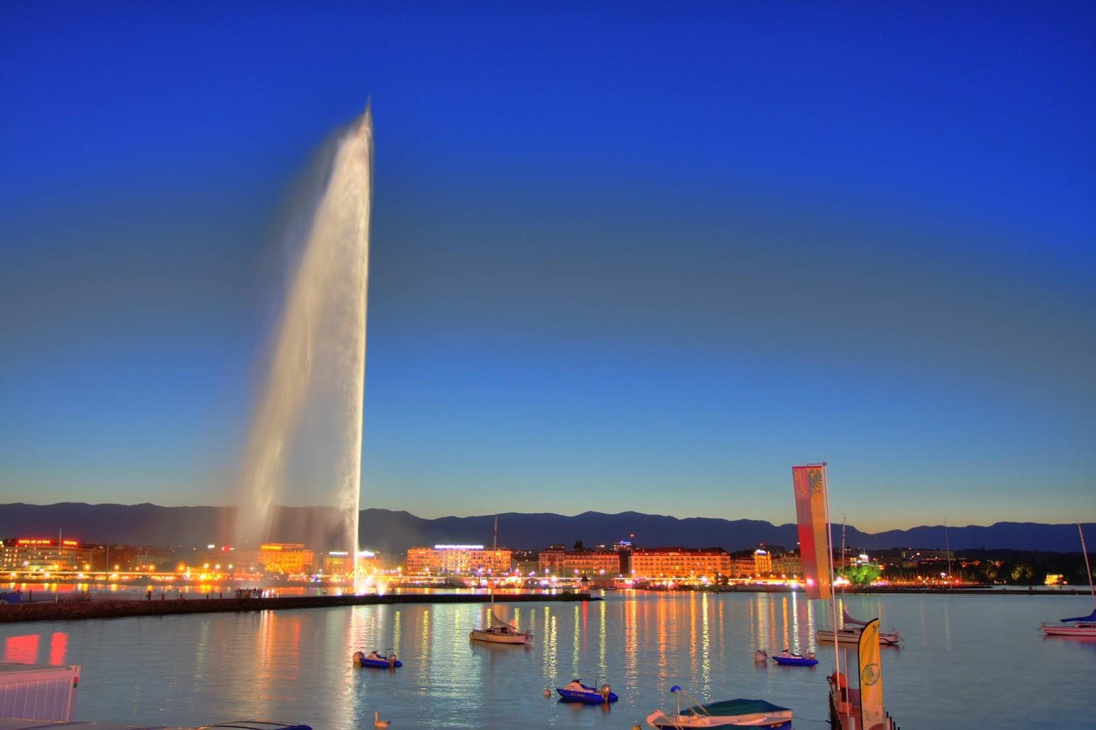 Plan Your Honeymoon in Switzerland | fountain on the lake