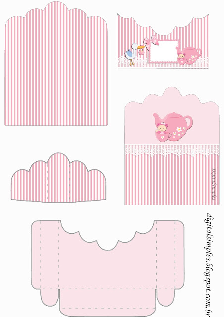Baby Girl in Pink: Free Printable Candy Wrappers.