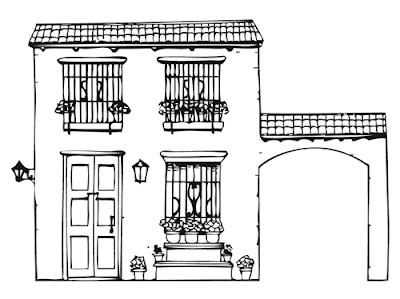 Maestra de primaria casas para colorear - Dibujar planos de casas ...