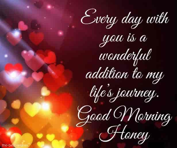 good morning honey text messages for her