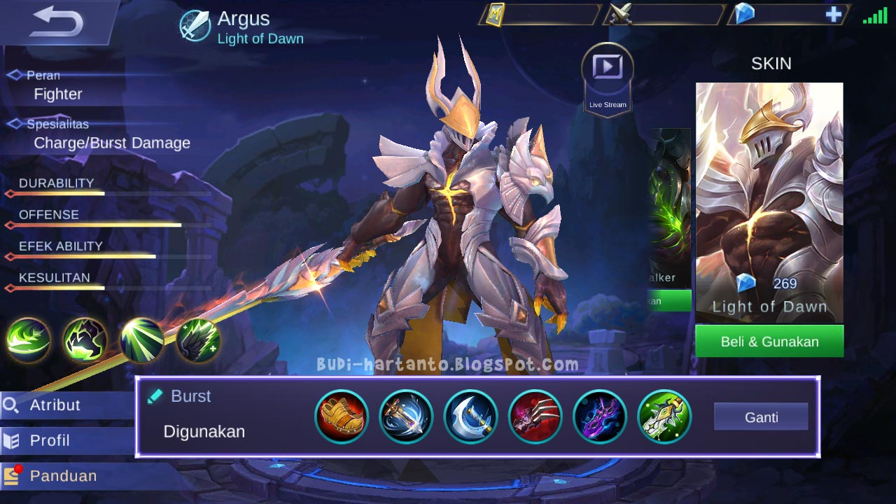 Build Argus Mobile Legends