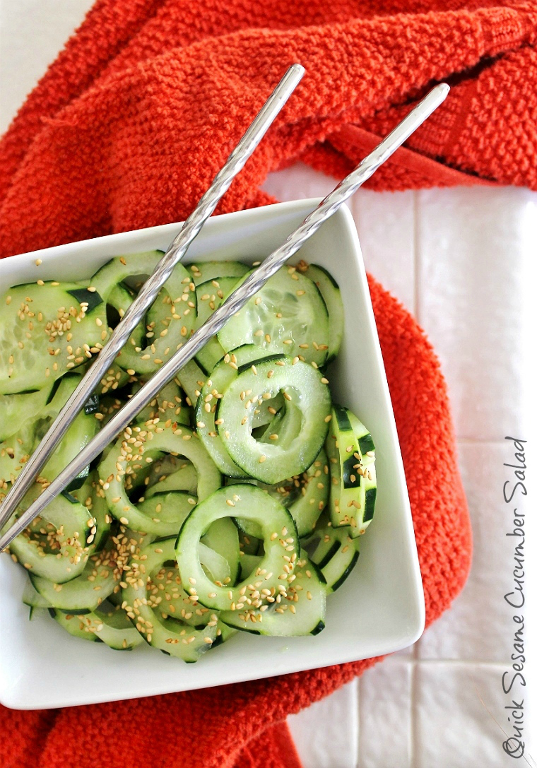 5 Minute Sesame Cucumber Salad Recipe #LingLingAsianFood. #IC #LL #AD