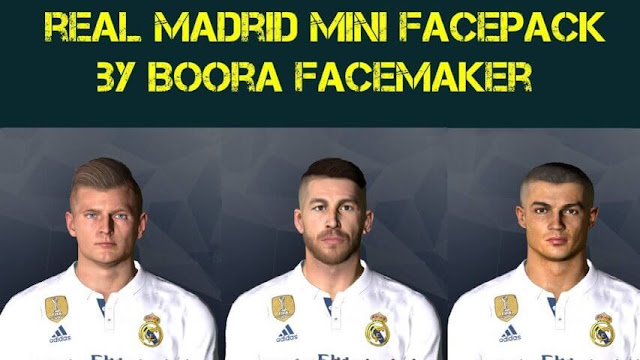 Real Madrid Face Pack PES 2017