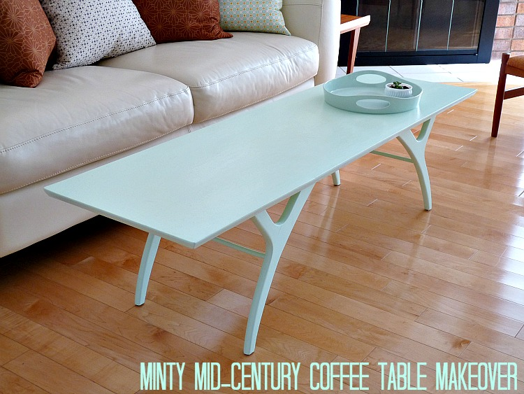 Mint mid-century coffee table