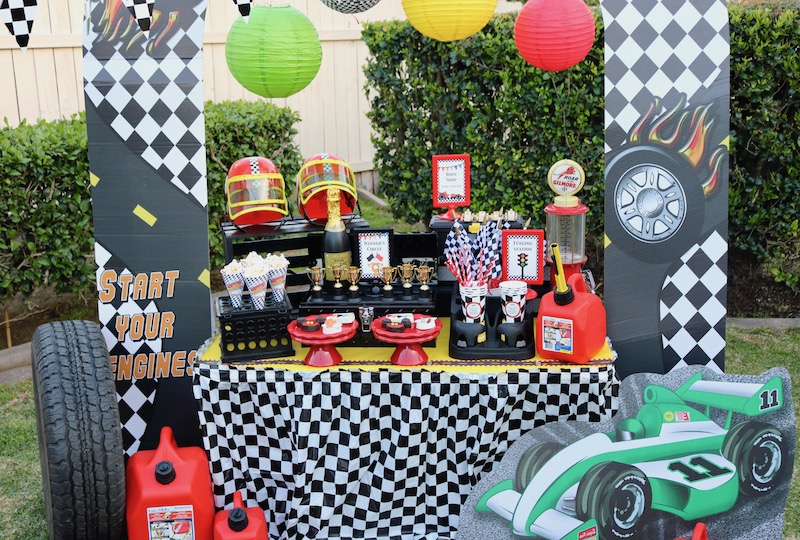 Race Car Party Ideas Ft Mickey And The Roadster Racers
