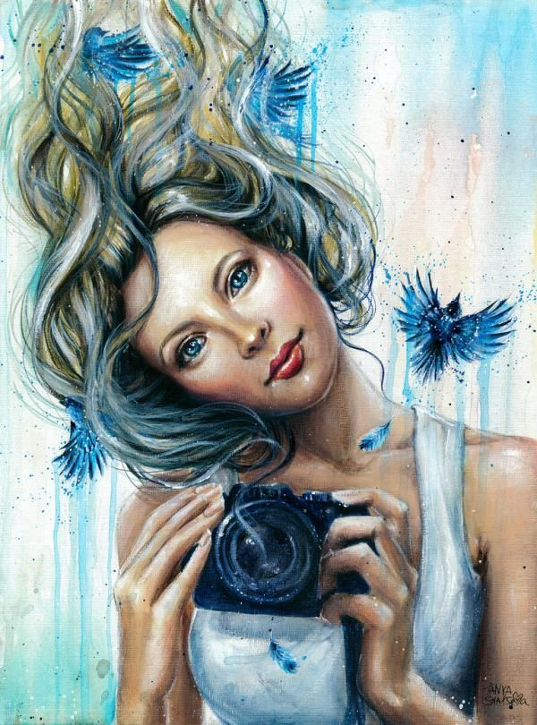 Retrato acuarela