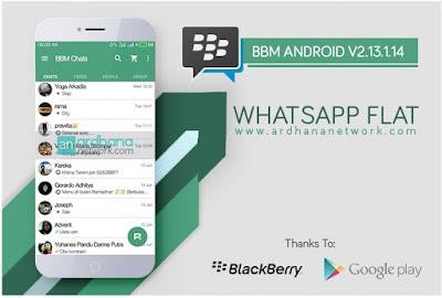 BBM Whatsapp Flat - Base Version 2.13.1.14 Terbaru