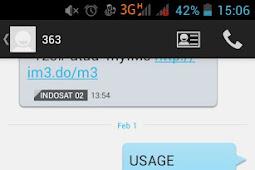 Cara cek kuota indosat ooredoo (M3 dan Mentari) lewat sms