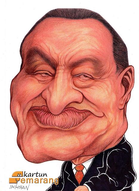 Caricature Husni Mubarak by by Ikhsan Dwiono